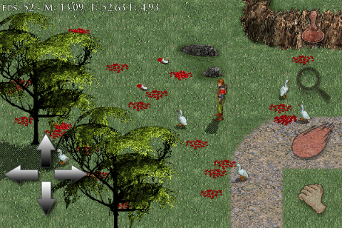 Real-time scaling to 480X320 looks pretty good.  FPS not bad either!  Temporary GUI, this will improve.