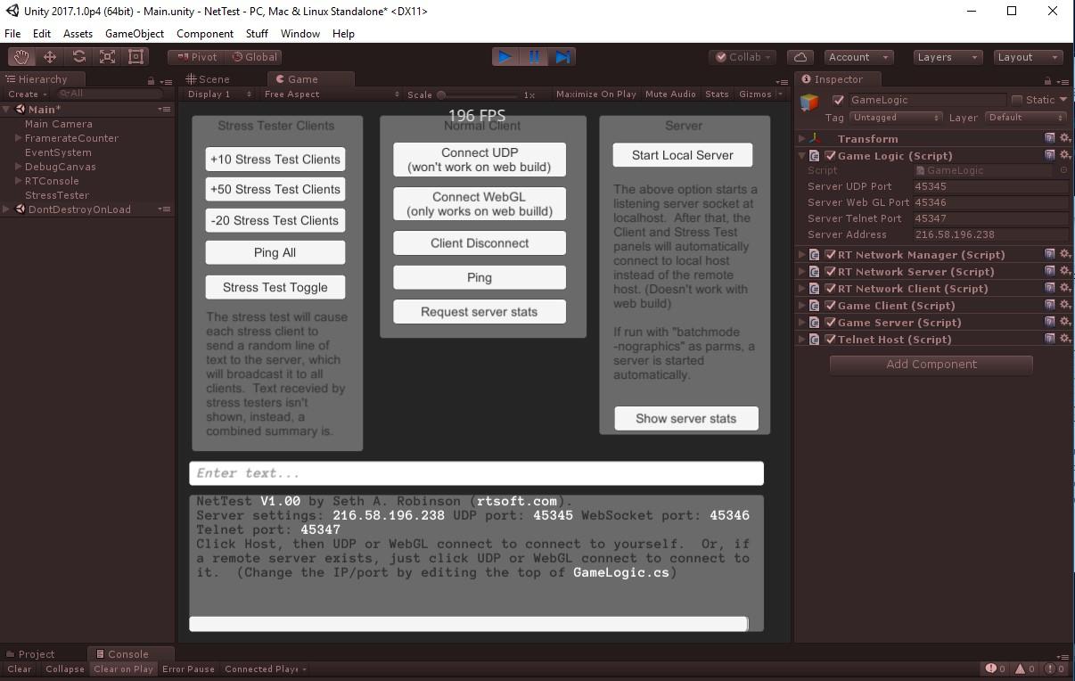 Seth Robinson's Blog - Stress testing Unity's LLAPI, what     - Gamasutra