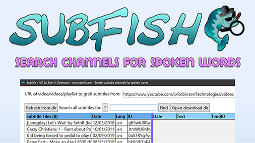 Subfish:  Search youtube channels for spoken words, export clips to Premiere/DaVinci Resolve timeline